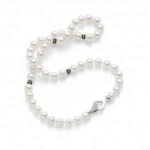 PAUL DUVET GRM Collana di perle e chiusura di diamanti